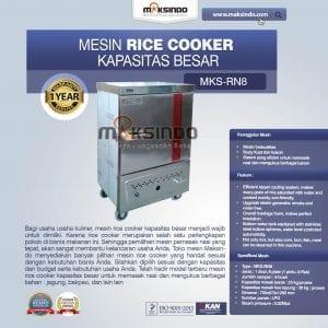 Rice Cooker Kapasitas Besar 25 kg 8 Rak