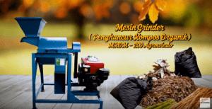 Video Mesin Grinder Kompos Organik Untuk Merajang Kompos Menjadi Ukuran Yang Lebih Kecil