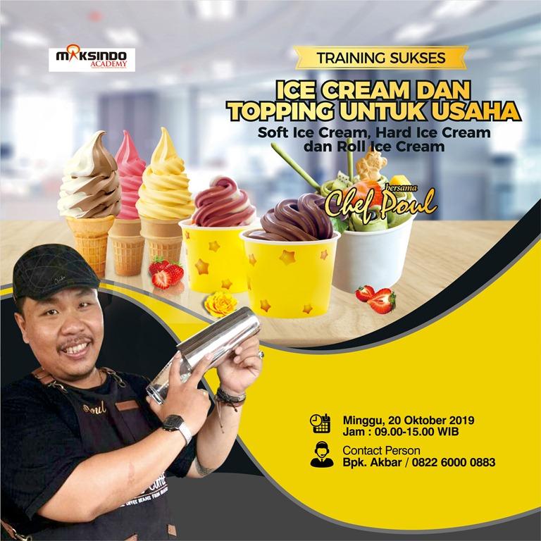 Training Sukses Ice Cream dan Topping Untuk Usaha, Minggu ...