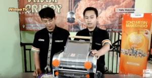 Video Cara Memproduksi Mie Untuk Skala UKM Dengan Menggunakan Mesin Maksindo