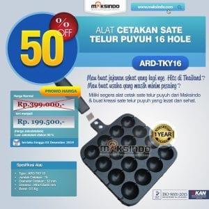 Alat Cetakan Sate Telur Puyuh 16 Hole Ardin ARD-TKY16