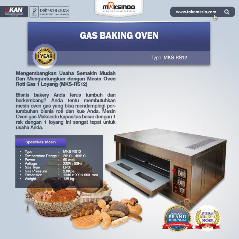 mesin oven gas